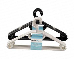 Kleiderbügel LUX, 10er-Set, schwarz und weiß sortiert