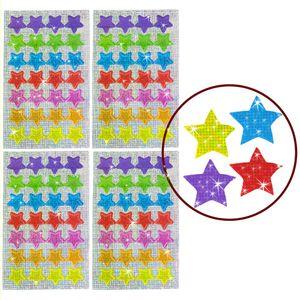 Oblique Unique 112 Funkelnde Glitzer Sterne Sticker Kinder Aufkleber - bunt