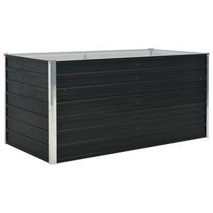 vidaXL Hochbeet Anthrazit 160 x 80 x 77 cm Verzinkter Stahl