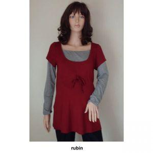 Umstandsmode: Fischer Kollektion Stillshirt, rubin, Gr. 44