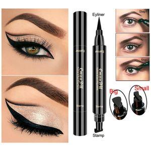 2Pcs Winged Eyeliner Stamp The Flick Stick by Black, Waterproof Make Up, Smudgeproof, Long Lasting Liquid Eye liner Pen, Vamp Style (Midnight Black)