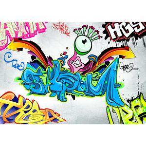 Graffiti 9064a RUNA Graffiti VLIES FOTOTAPETE XXL DEKORATION TAPETE− WANDDEKO 352 x 250 cm