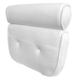 Badewannenkissen Nackenkissen Weiß | Wannenkissen Kopfkissen Polyester | Badekissen Kopfstütze Badewannen Kissen
