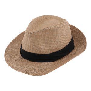 Mode Strohhut Panama-Hut Fedora-Hut Sonnenhut Partyhut Kostüm Accessoires Farbe Khaki