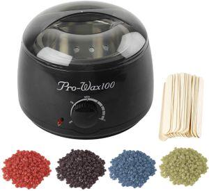 400g Wachs Bohnen Wachsgerät Set Haarentfernung Wachserhitzer Wachs Erhitzer Salon Haarentfernung,schwarz