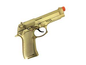 Pistole Gold mit Soundeffekt Gangster Mafia Zuhälter Pimp