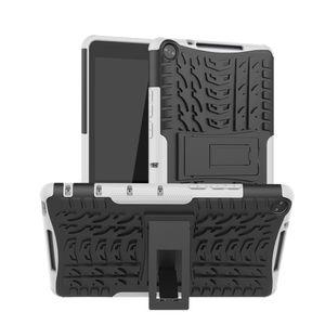Für HUAWEI Mediapad M5 Lite 8,0-Zoll-Hybrid-Hartgummiständer SCY91126102WH