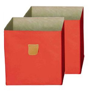 Phoenix Stor' It Aufbewahrungsbox Canvas 2er Se BxHxT cm 34 x 34 x 34 Orange