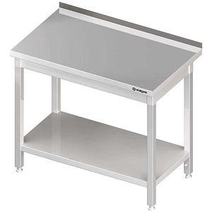 Arbeitstisch mit Grundboden 800x600x850 mm, mit Aufkantung, Selbstmontage