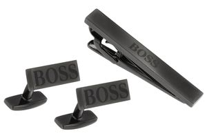 Boss 50424397 Geschenkset Manschettenknöpfe Krawattenhalter Gyler und Tyler