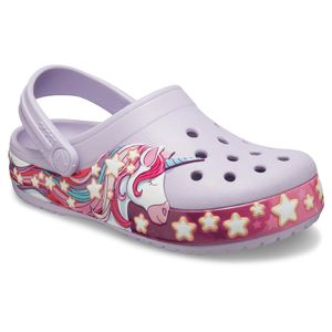 Crocs FunLab Unicorn Band Clogs Kinder Junior Clog Relaxed Fit 206270-530 Lila, Schuhe:29/30 EU