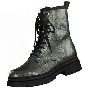 TAMARIS Damen Stiefel Grün Metallic, Schuhgröße:EUR 36