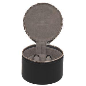 WINDROSE Nappa Jewelry Box Round Black
