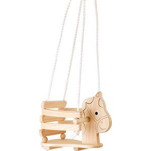 Small Foot Design 4774 Kinderschaukel aus Holz Pferd, natur (1 Stück)