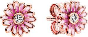 Pandora Garden Ohrstecker 288773C01 Pink Daisy Flower Rose Klare Zirkonia Pink Emaille