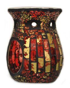 Davartis - Duftlampe Mosaik rot/gold - warme Farbe - Blickfänger