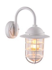 Globo Lighting NAUTICA Außenleuchte Aluminium weiß, 1xE27, 31839W