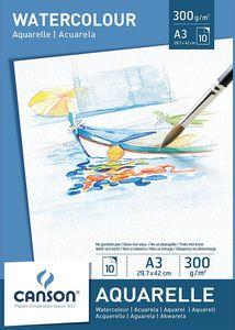 CANSON Aquarellpapier Block DIN A3 300 g/qm weiß
