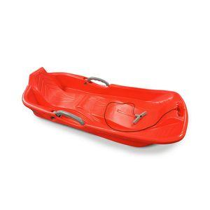 Schlitten 2 Personen Rot mit Bremsen, Schnur und Griff