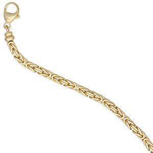 Königskette 585 Gelbgold 3,2 mm 42 cm Gold Kette Halskette Goldkette Karabiner