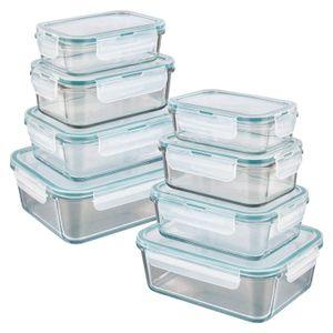 Frischhaltedosen Gefrierdosen Deckel Klick Lunchbox Glas Dosen Vorrats