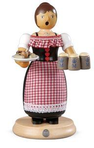 Räucherfigur Räuchermann groß Oktoberfestkellnerin (BxH):14x24cm NEU