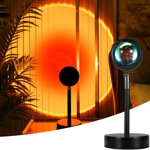 Sunset Lampe Sonnenuntergang Lampe  Regenbogen Projektion Licht warm led nachticht Dekoration LED Lampe , verwendet in Schlafzimmer, Wohnzimmer, Arbeitszimmer, romantische Party mit Sonnenuntergang Lichteffekt. FARBE: Sonnenuntergang