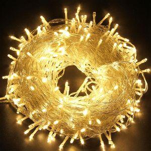 50M 500 LED Lichterkette Warmweiß 8 Lichtmodi Party Garten Innen Außen Deko Weihnachtsbeleuchtung