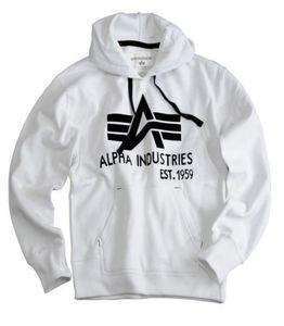 Alpha Industries Herren Hoodie Foam Print white L