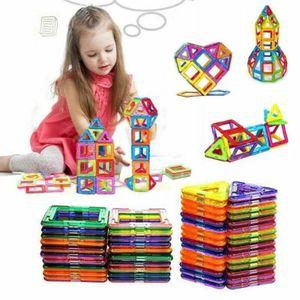 Magnetische Bausteine 100 Teile Bausteine Regenbogenfarben Bausatz Pädagogischen