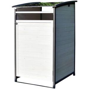Melko Mülltonnenverkleidung Einzelbox 120 Liter Mülltonnenbox Holz Mülltonnenhaus ???