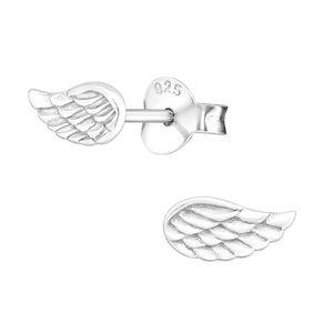 Ohrstecker Flügel: Silber Ohrringe Engelsflügel