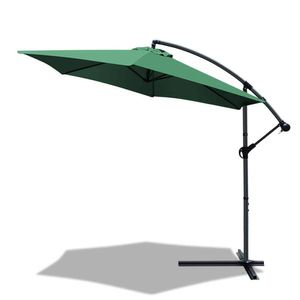 VOUNOT Ampelschirm mit Schutzhülle 300 cm, Grün