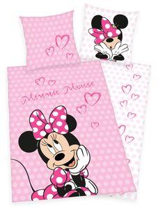 Disney´s Minnie Mouse Flanell Bettwäsche 80 x 80 + 135 x 200 cm