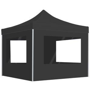 vidaXL Profi-Partyzelt Faltbar mit Wänden Aluminium 2×2m Anthrazit