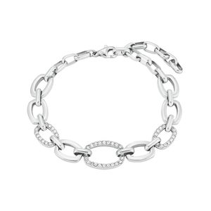 s.Oliver Armband für Damen, Edelstahl, Kristallglas Silber