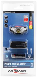 ANSMANN LED Stirnlampe - sehr Leicht und Kompakt 3W LED ideal zum Joggen