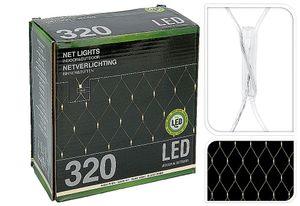 Lichternetz 320 LED`s warm-weiß, für außen 300x150cm