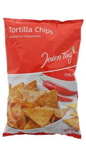 Jeden Tag Tortilla Chips Chili 300g