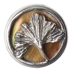 Noosa Chunk Ginkho Silver/ Shell- Metal/ Shell (silber)