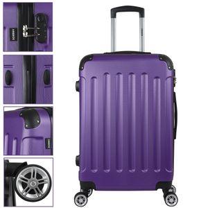 AREBOS Eco Reisekoffer Hartschalenkoffer Trolley Lila Größe L - direkt vom Hersteller