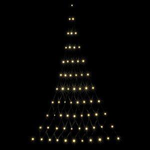 LED Lichtervorhang Triangelnetz Lichterkette 66LEDs / 120x175cm / Timer / Innen & Außen