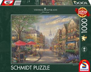 Schmidt Spiele Puzzle Thomas Kinkade, Café in München, 1000 Teile
