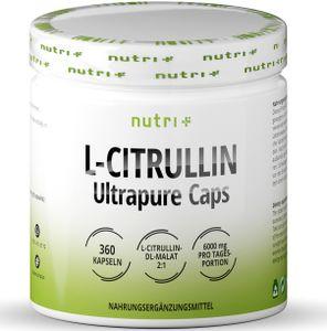 Nutri+ L-Citrullin Ultrapure Caps (360 Kapseln)