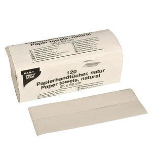 120 Blatt Handtuchpapier 50 cm x 25 cm natur C-Falz, 1-lagig