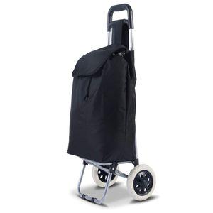 COSTWAY Einkaufstrolley Einkaufswagen Shopping Trolley Einkaufsroller Einkaufstasche bis 35kg klappbar schwarz 35L