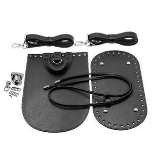 Taschenzubehör 7PCS Einlegeboden Taschenboden Taschenseiten Riemen Schnallen zum Häkeln für Handtaschen / Taschen Herstellung Schwarz