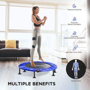 Toncur Mini Trampolin Fitness Faltbar fur Erwachsene und Kinder mit Sicherheitspad / Anti-Rutsch-Saugnapfen, leisem ubungs-Rebounder-Trampolin fur das Training im Innen- und Gartenbereich