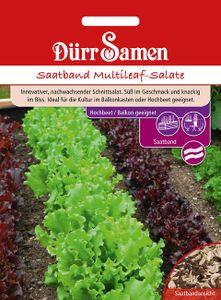 Dürr Samen - Saatband Multileaf-Salate für Balkon