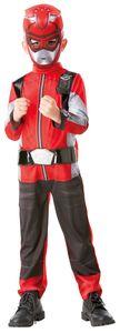 Kinder Kostüm Red Power Ranger Karneval Fasching Gr. M